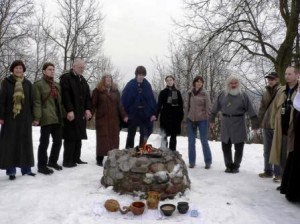 pagan launch ceremony for Societies & Lifestyles project, 2006, Vilnius, Lithuania