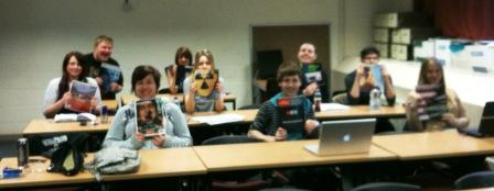 Alternative Media class, discussing subvertising, March 2011
