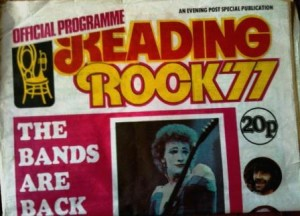 George's first ever: Reading Festival 1977