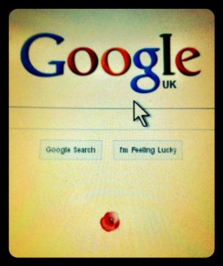 Google homepage with red poppy, 11.11.11