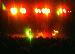 Wilko in Glasgow, March 9 2013, on fire