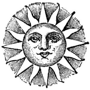 hippie sun or moon