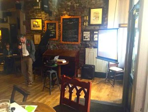A public lecture in a public house: speaking about festivals at The Robert Gillow, Lancaster, June 2015