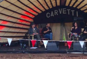 Carvetti stage close-up, Kendal Calling 2015