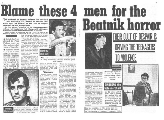 Beaulieu Beatnik horror press cutting