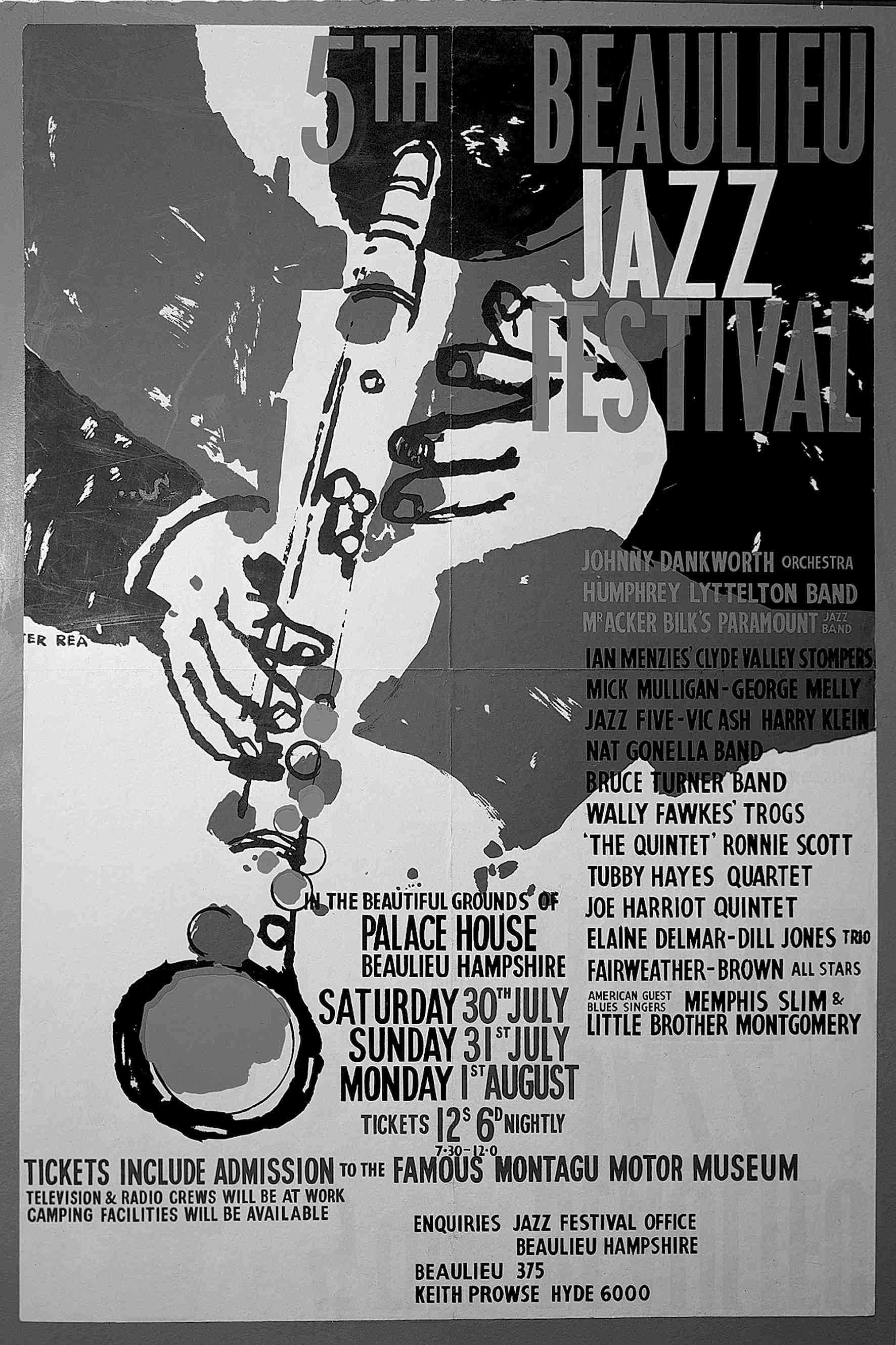 Fig 4. Beaulieu Jazz Festival 1960 poster