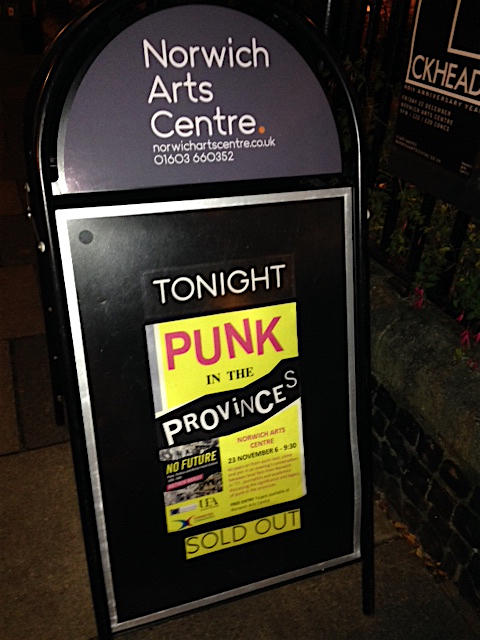 NAC punk sold out sign