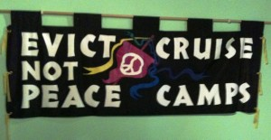 1980s CND banner, People's History Museum, Manchester