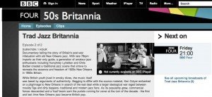 BBC 4 Tra Jazz Britannia screenshot