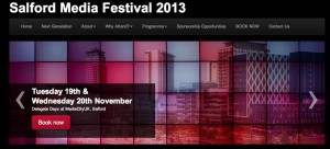 Salford Media Festival website screengrab