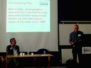 Alan Lodge (right) discussing his photography