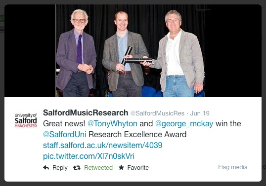 VC Award Salford with Tony Whyton