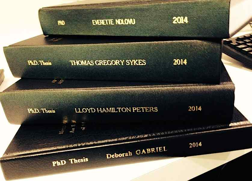 How to publish a phd thesis