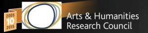 AHRC logo 10th anniversary