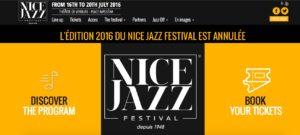 Nice Jazz Festival 2016 annulee
